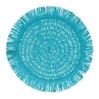 GYULA - placemat - paper - DIA 40 cm - light blue