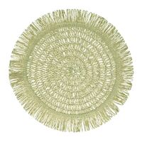 GYULA - placemat - paper - DIA 40 cm - light green