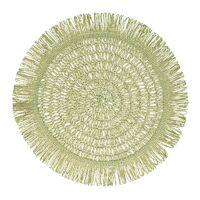 GYULA - placemat - papier - DIA 40 cm - licht groen