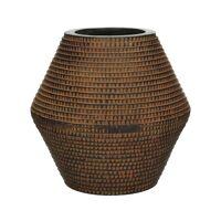 ROMAN - pot planteur - magnesium oxide - L 30 x  W 30 x H 29 cm - brun