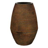 ROMAN - pot planteur - magnesium oxide - L 30 x  W 30 x H 45,5 cm - brun