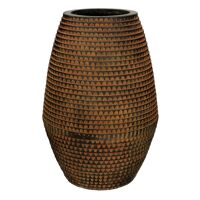 ROMAN - bloempot - magnesium oxide - L 30 x  W 30 x H 45,5 cm - bruin