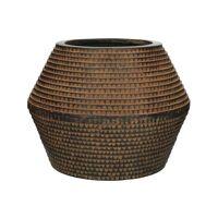 ROMAN - bloempot - magnesium oxide - L 40 x  W 40 x H 33 cm - bruin