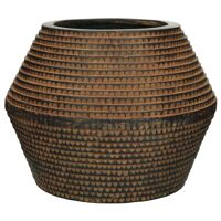 ROMAN - pot planteur - magnesium oxide - L 48 x  W 48 x H 39 cm - brun