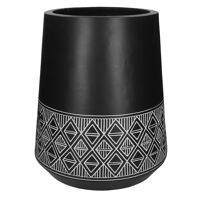 MILO - bloempot - magnesium oxide - DIA 35 x H 50 cm - zwart