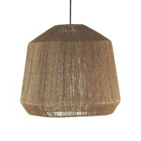 CORFU - hanglamp - jute / metaal - DIA 50 x H 44 cm - naturel