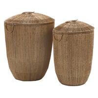 CORFU - set/2 baskets - jute / metal - DIA 34/45 x H 50/55 cm - natural