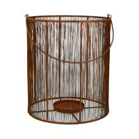 LARA - lantern - metal - DIA 28 x H 32 cm - rust