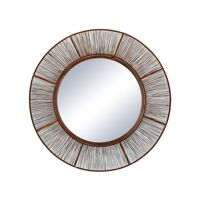 LARA - mirror - metal - DIA 60 cm - rust