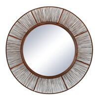 LARA - mirror - metal - DIA 80 cm - rust