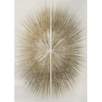 FUSION - canvas - linen - L 100 x W 4,5 x H 140 cm - white/gold