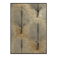 PALME - canvas - linen - L 100 x W 4,5 x H 140 cm - black/gold