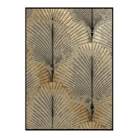 PALME - canvas - linnen - L 100 x W 4,5 x H 140 cm - zwart/goud