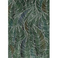 AMAZONIE - canvas - linen - L 100 x W 4,5 x H 140 cm - green