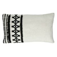 MARRAKECH - cushion - cotton - L 50 x W 30 cm - black/white