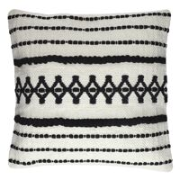 MARRAKECH - cushion - cotton - L 45 x W 45 cm - black/white