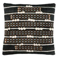 OUJDA - cushion - cotton - L 45 x W 45 cm - black