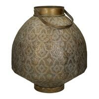 TARIFA - lantern - metal / glass - DIA 38,5 x H 42 cm - gold