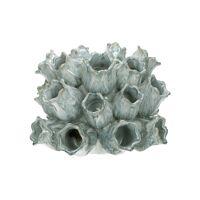 HASTULA - vase - faïence - DIA 20 x H 15,5 cm - gris/beige