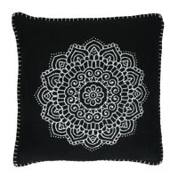 HAMMAM - cushion - cotton - L 45 x W 45 cm - black