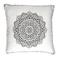 HAMMAM - cushion - cotton - L 45 x W 45 cm - white