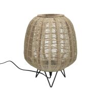 LOKKEN  - lampe de table - bambou - DIA 35,5 x H 43 cm - naturel