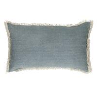 TUVI - cushion - cotton - L 50 x W 30 cm - grey