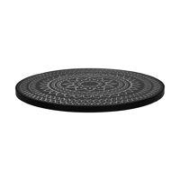 HAMMAM - table top S - mdf / mdf - DIA 45 x H 2 cm  - black