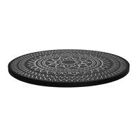 HAMMAM - table top M - mdf / mdf - DIA 55 x H 2 cm  - black