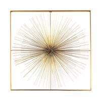 FOGOS - wall deco - iron - L 90 x  W 6,5 x H 90 cm - gold