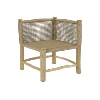 TREILLAGE - corner seat - teak wood / virofiber - L 62 x W 62 x H 71 cm - natural