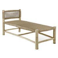 TREILLAGE - fauteuil lounge - bois de teck / virofiber - L 140 x W 62 x H 71 cm - naturel
