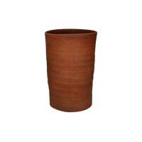 OUED - vaas - aardewerk - DIA 20 x H 30 cm - roest