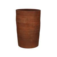 OUED - vaas - aardewerk - DIA 22 x H 40 cm - roest