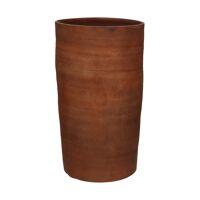 OUED - vase - faïence - DIA 22 x H 54 cm - rouille
