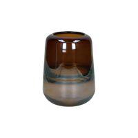RIO - vase - verre - DIA 13 x H 18 cm - cognac