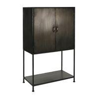 TYPOGRAPHIC - cupboard - metal - L 78 x W 43 x H 129,5 cm