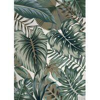 NATURALITE - canvas - linnen / hout - L 100 x W 4,5 x H 140 cm - mix van kleuren