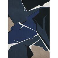 STRUCTURE - canvas - linnen / hout - L 100 x W 4,5 x H 140 cm - mix van kleuren