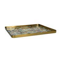 FLEX - tray M - metal / enamel - L 40 x W 40 x H 2 cm - mix of colours