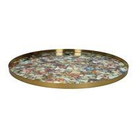 FLEX - tray M - metal / enamel - DIA 55 x H 2 cm - mix of colours
