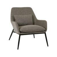 HAILEY - relax chair - fabric / metal - L 66 x W 75 x H 77 cm - sand