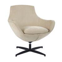 MISHA - swivel chair - fabric / metal - L 74 x W 70 x H 77 cm - light grey