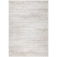 TERRA TILES - outdoor rug - polyester / decolan fibre - L 170 x W 240 cm - black/white