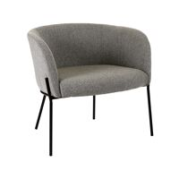 POLKA - relax stoel - polyester / metaal - L 61,5 x W 71 x H 68 cm - licht grijs