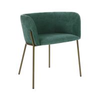 POLKA - stoel - velvet / metaal - L 52 x W 59 x H 68 cm - aqua