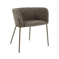 POLKA - stoel - velvet / metaal - L 52 x W 59 x H 68 cm - brons