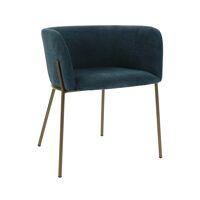 POLKA - stoel - velvet / metaal - L 52 x W 59 x H 68 cm - petrol