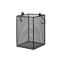 ESZENTIAL - panier à couverts - métal - L 12 x  W 12 x H 19,5 cm - noir