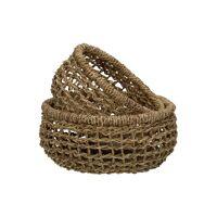OSTERIA - set/2 bread baskets - jute - DIA 15/18 x H 8 cm - natural